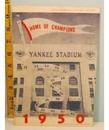 1950 New York Yankees Program Scorecard v Detroit Tigers Shutout Yanks - $22.77