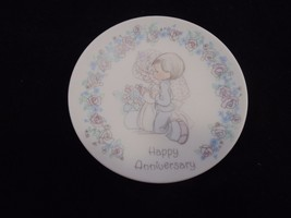 Precious Moments 1989 Happy Anniversary Mini Collectors Plate  - $7.99