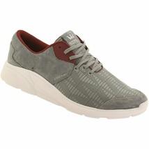 Supra Noiz Steel/Burgundy-White Suede Jacquard Lightweight Skateboarding Shoes image 1
