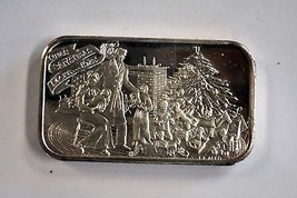 2 oz. Twas Christmas Morn 1975 Second Edition .999 Fine Silver Bar E.J.A... - $98.99