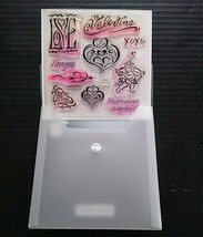 Close To My Heart CTMH Acrylix Stamps Set Heart Valentine's Love Cupid D1245 - $13.98