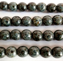 50 6 mm Czech Glass Round Beads: Jet - Picasso - $2.98