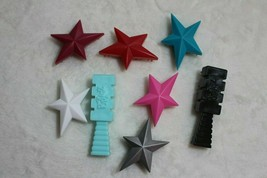Bratz Barbie Doll Lot Of Hairbrushes Star Brushes Chloe Jade Yasmin Sasha - $19.79
