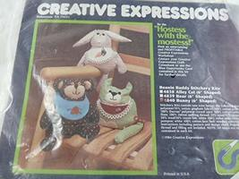 "Vintage Creative Expressions Bunny Stitchery kit 6"" Shaped with All Mate... - $17.81"