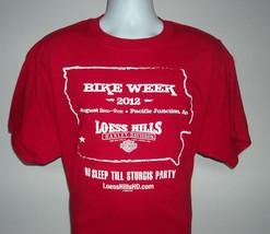 NEW MENS HARLEY DAVIDSON 2012 BIKE WEEK LOESS HILLS T SHIRT XLARGE STURG... - $28.66