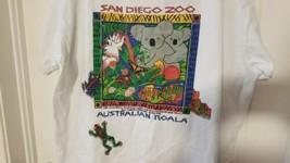 Vintage 90s San Diego Zoo T Shirt XL Single Stitch Save Wildlife Koala Bear - $19.39