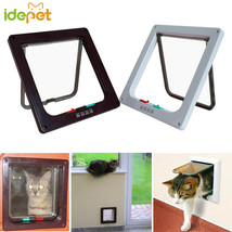 Pet Cat Dog Gate Lockable Safe Flap Door Pet product Cat toy Stable Cat ... - $34.60