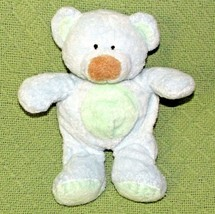 Ty Pluffies Bluebeary Teddy Bear Blue Plush Stuffed 2002 Brown Nose Green Tummy - $11.75