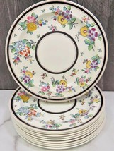 """Set of 10 Wedgwood A6559 Rose Cretonne Supper Lunch Plates 9.25"""" VERY RARE - $163.35"""