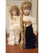 """Cinderella & Rapunzel Doll 14"""" Vintage House Of LLOYD Porcelain 1990 New - $69.11"""