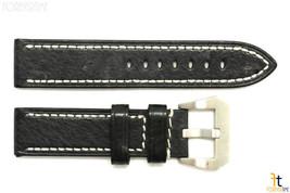 26mm Nero Testurizzate pelle Orologio con Cinturino per Luminox Anallergico - $41.74
