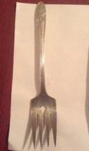 "Queen Bess II Tudor Plate Oneida Community 1946 Silverplate 8"" Serving Fork - $11.88"