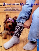 Basketweave Mosaic Socks SZ Adult S,M,L Knitting PATTERN/INSTRUCTIONS Le... - $1.41