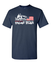 Trump Train All the Aboard Donald Trump American Flag Men's Tee Shirts 1548 - $9.85+