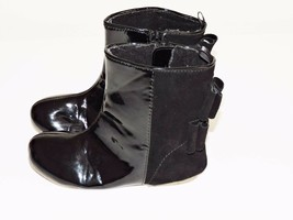 GAP True Black Holiday Boots V2 Modern Bow Zip Slip On Dressy Preschool ... - $379,82 MXN