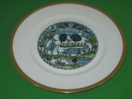 Haviland Limoges France Plate The Pennsylvania Town and Country Man's Almanack - $13.98