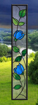Stained Glass Window Panel Tulips SideLight - $149.00