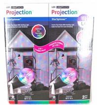 Gemmy LED Lightshow Projection StarSpinner Red Green Blue 20FT Swirling ... - $18.69