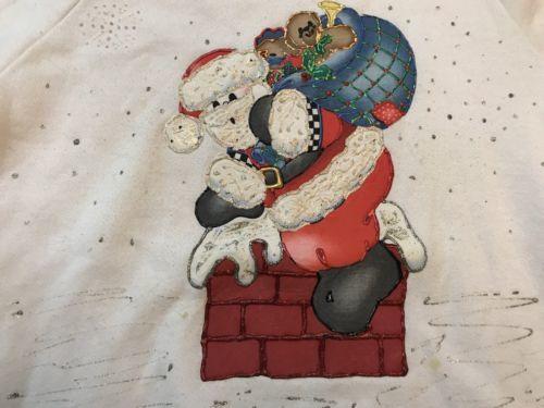 vintage ugly santa christmas sweatshirt jerzees XL image 2