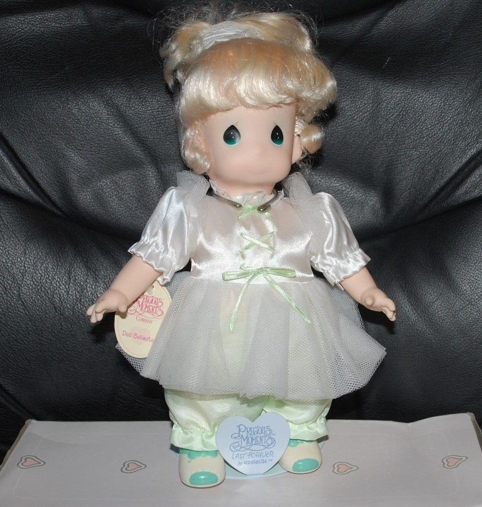 "Precious Moments Applause Blonde Tonya Doll w/ Stand 12"" Vintage Dolls 1994"