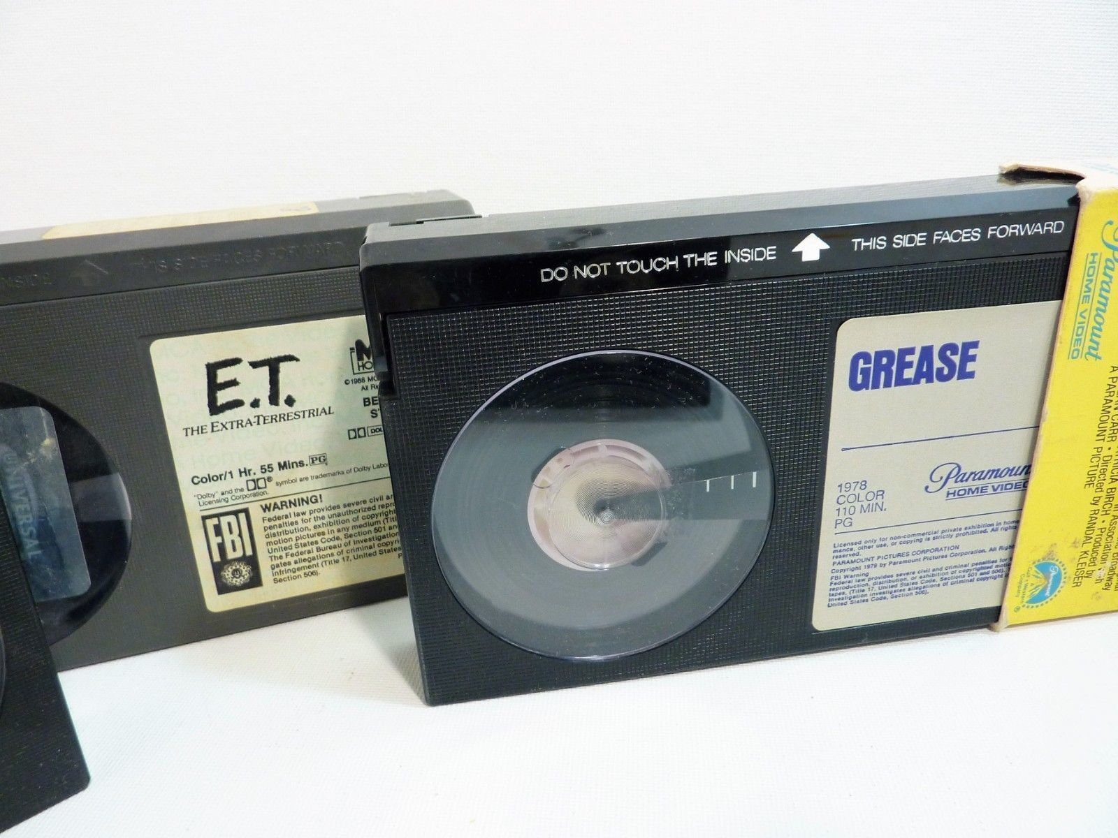 Lot of Beta Tapes Grease, ET, Sound of Music, Richard Simmons, Jazzercize