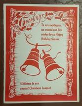 vintage KLEIN CHOCOLATE COMPANY elizabethtown pa CHRISTMAS CARD employees - $34.95