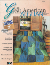 The Great American AFGHAN-25 Great Designers-25 Unique Designs-Features ... - $59.70