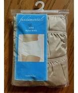 Vintage Sears Fundamentals Satin Nude 100% Nylon Briefs Panties 3 Pair S... - $21.77