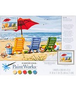 Dimensions Beach Chair Trio Paint by Numbers for Adults, 14'' W x 11'' L - $13.56