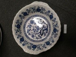 Serving Bowl Enoch Wedgwood Tunstall Blue Heritage EUC - $19.79