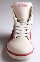 Heyday Mens Shift Classic Cream Cherry Red Leather Shoes Fashion Sneakers NIB image 3