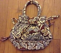 Vera Bradley slate blooms bucket Tote Handbag  euc lkn drawstring purse - $29.71