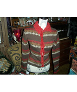 GUESS JEANS Cute Wool Blend Cardigan Size M jr - $9.90