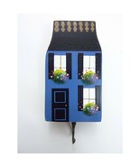 Vintage Small Wood Painted House Key Hook Wall Decor  - $8.99