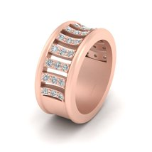 Unique Engagement Band For Her Classic Diamond Half Eternity Ring Band For Women - $2,559.99