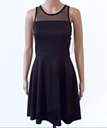 New Bongo Size Junior M Black Mess Skater Dress  NWT - $15.99