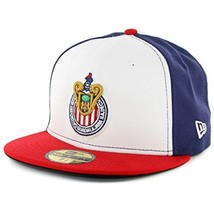 Era 59Fifty Hat Chivas De Guadalajara Soccer Official Team White/Blue/Re... - $31.56