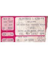 UFO / Aldo Nova Concert Ticket Stub Friday May 14 1982 Seattle Center Arena - $29.95