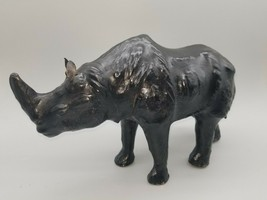 "Rhinoceros Sculpture Figurine Resin 12"" x 8"" x 5"" - $26.50"