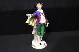 "Vintage Handpainted Sitzendorf Porcelain Germany MAN w/LUTE 8"" Musician ... - $79.99"