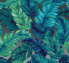 Floral Wall Murals, Fresh Green Tropical,Exotic flowers Wall Decor Printed Photo image 2