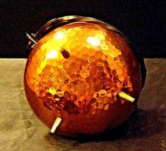 Copper Cauldron Cauldron with Metal Handle RIO TIEL AA19-1505 Antique image 4