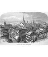 CINCINNATI Ohio - 1883 German Print - $21.60