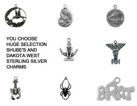 LOVE HEARTS PEACE & SUPPORT STERLING SILVER CHARMS .925 - YOU CHOOSE