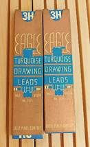 Vintage Eagle Turquoise Drawing Drafting Lead 3H -2 Packs ( 6 in each pack) - $8.86