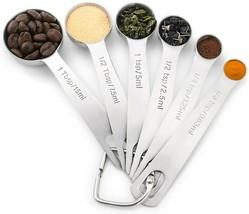 7 Piece Measuring Spoon Set dry or liquid ingredients stainless Steel - $11.87