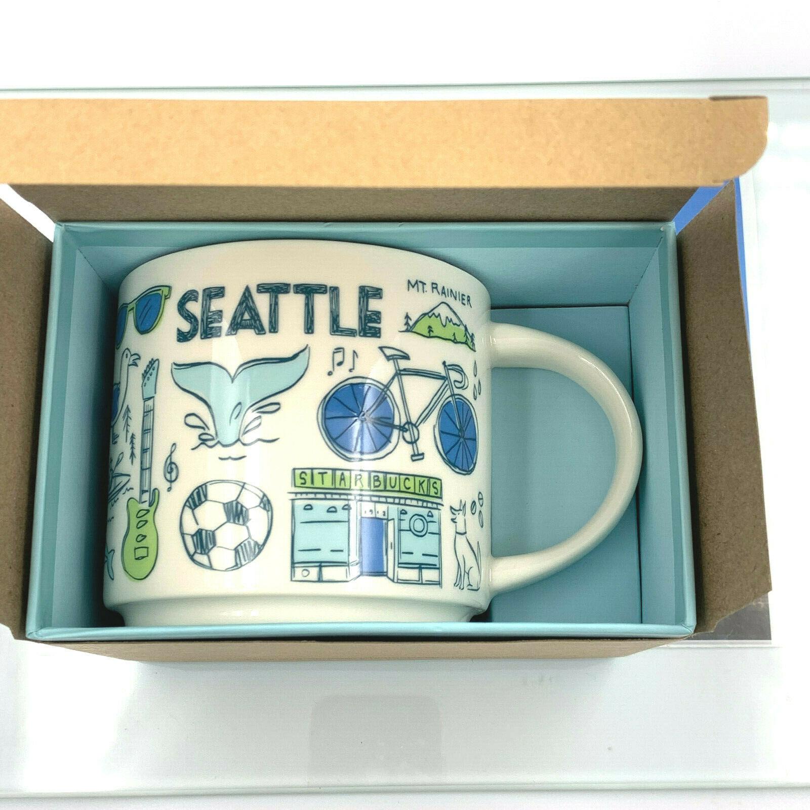 Starbucks Coffee Ceramic Mug Cup USA World Collection Coffee Tea Hot 14 oz Gift image 8