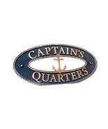 VINTAGE CAPTAINS QUARTERS Sign Nautical Plaque Ship Boat Captain Signs P... - $44.70