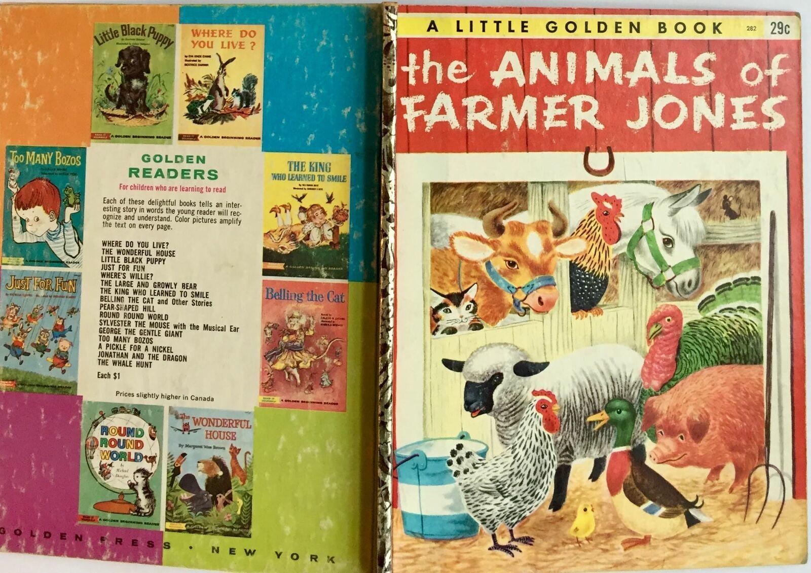 The Animals of Farmer Jones Little Golden Book 1953 G edition Scarry