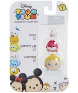 Disney Tsum Tsum 3 Pack Series 1 Daisy 116 Cheshire Cat 141 Cinderella 1... - $8.00